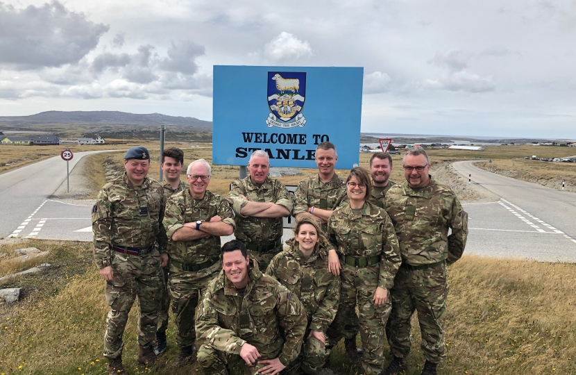 Visiting the Falklands with the Armed Forces   Julia Lopez MP