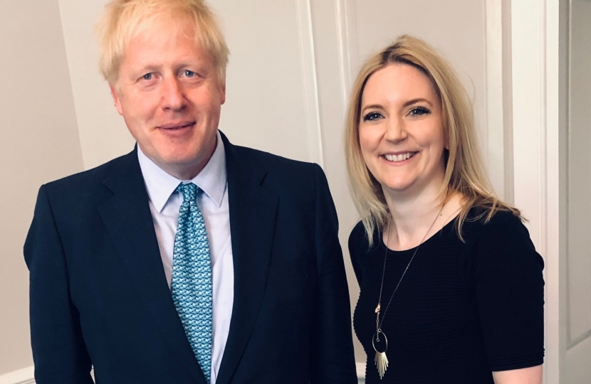 Julia Lopez MP with Prime Minister Boris Johnson