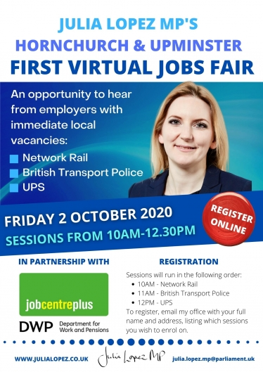 Virtual Jobs Fair Flyer